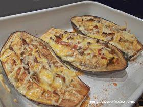 Caceroladas: Berenjenas gratinadas con bacon y queso