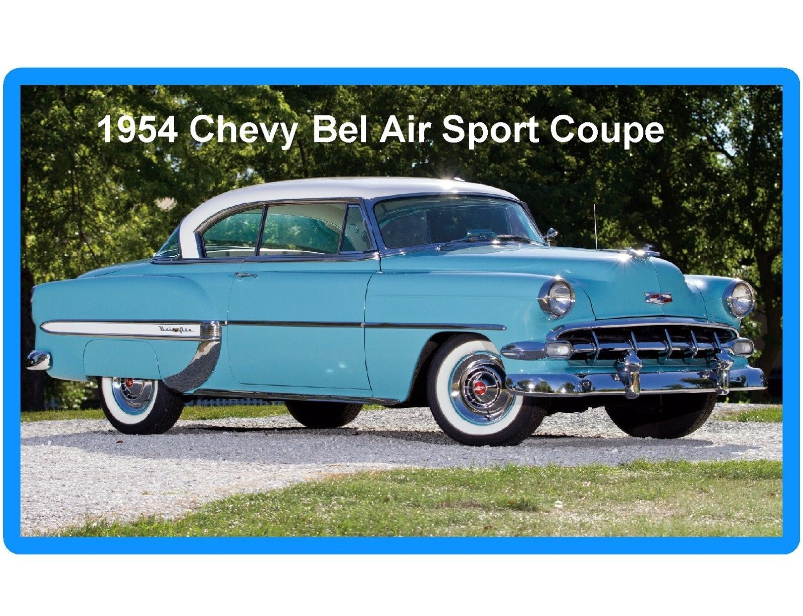 55 1954 Chevy Bel Air Sport Coupe Refrigerator Toolbox Magnet Ebay Collectibles