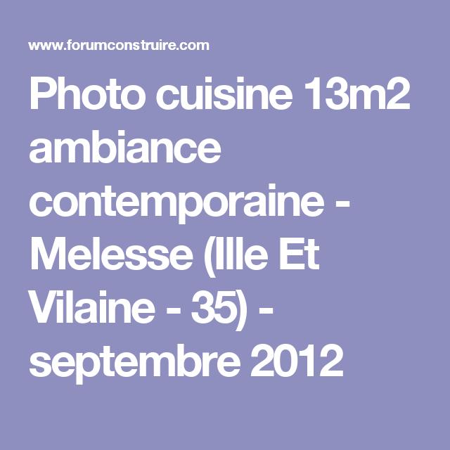 Photo cuisine 13m2 ambiance contemporaine - Melesse (Ille Et Vilaine - 35) - septembre 2012