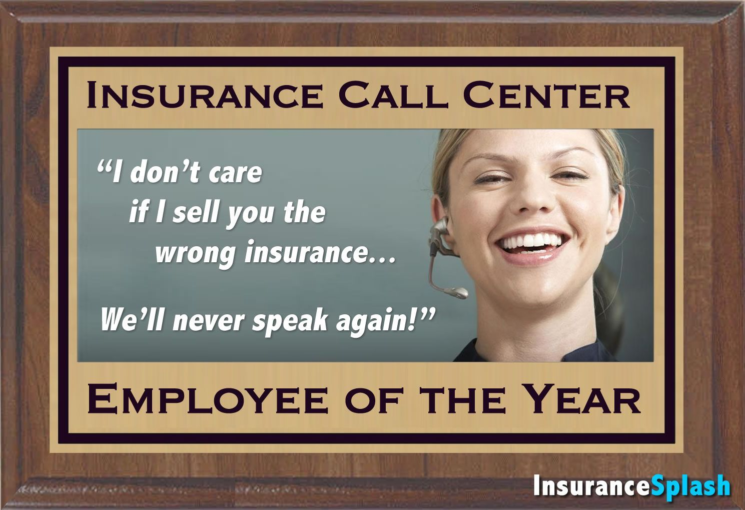 Insurance call center employee of the year with images