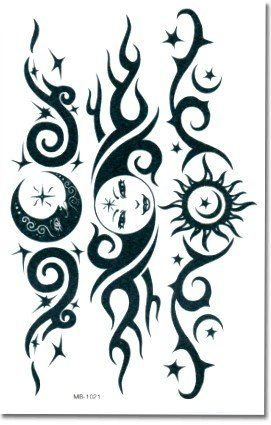 5d4c3a619 Tribal Sun Lower Back Temporary Tattoo BeWild. $2.99   Beauty - Body ...