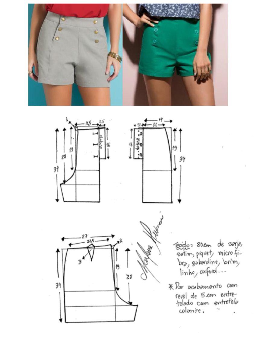 Hotpants pattern | costura | Pinterest | Kleider nähen ...