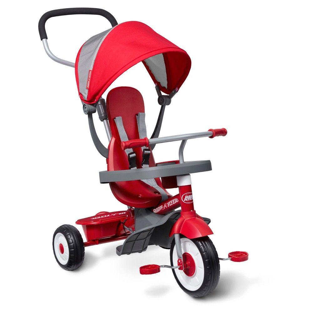 Radio Flyer 4in1 Stroll 'N Trike Red, Kids Unisex