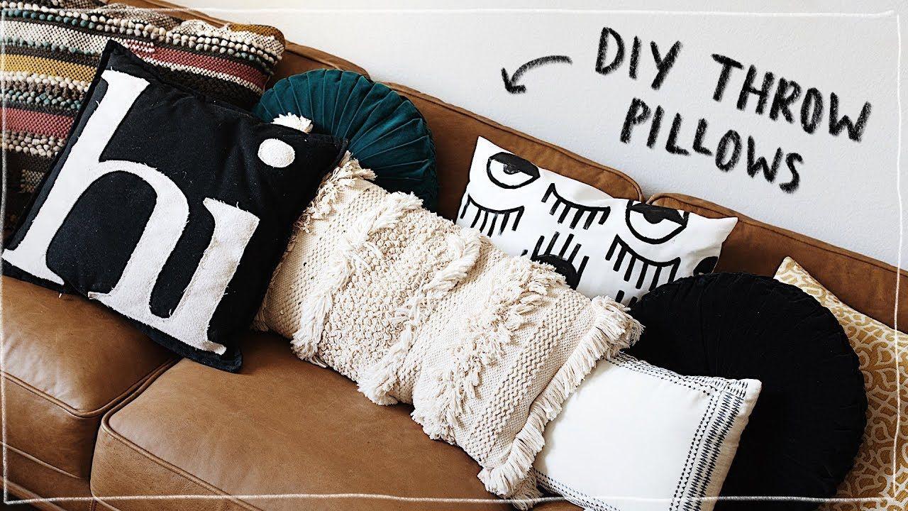 Diy Throw Pillows No Sew Super Cute Aesthetic