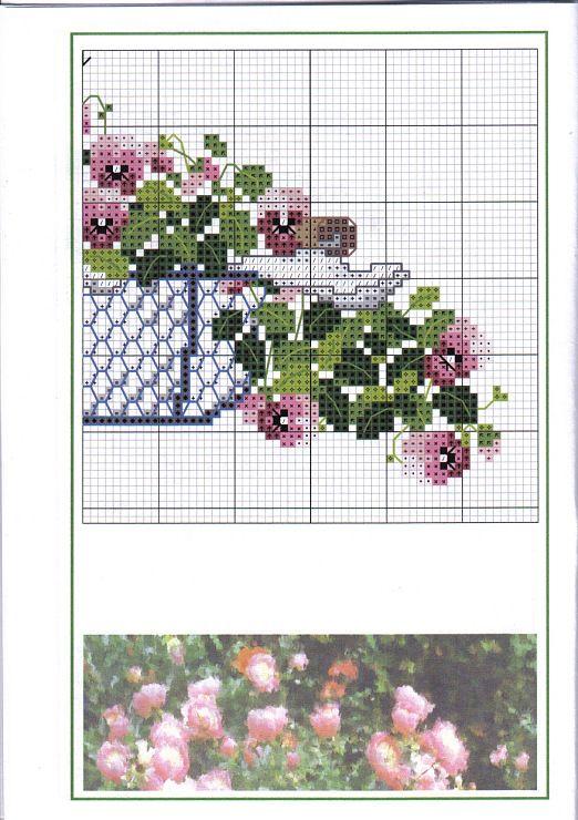 2 fruehlingsboten auroraten cross stitch flowers pinterest. Black Bedroom Furniture Sets. Home Design Ideas