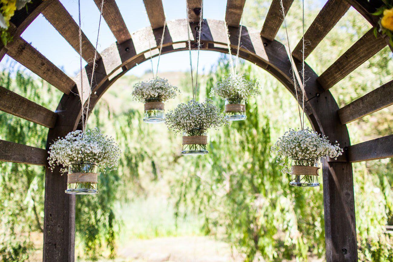 Rustic Wedding Altar Décor At Radonich Ranch, Los Gatos CA
