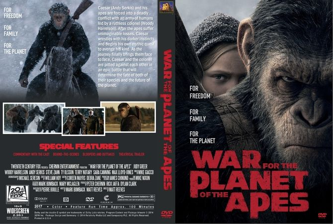 War For The Planet Of The Apes 2017 Dvd Custom Cover Dvd Cover Design Custom Dvd Dvd Covers
