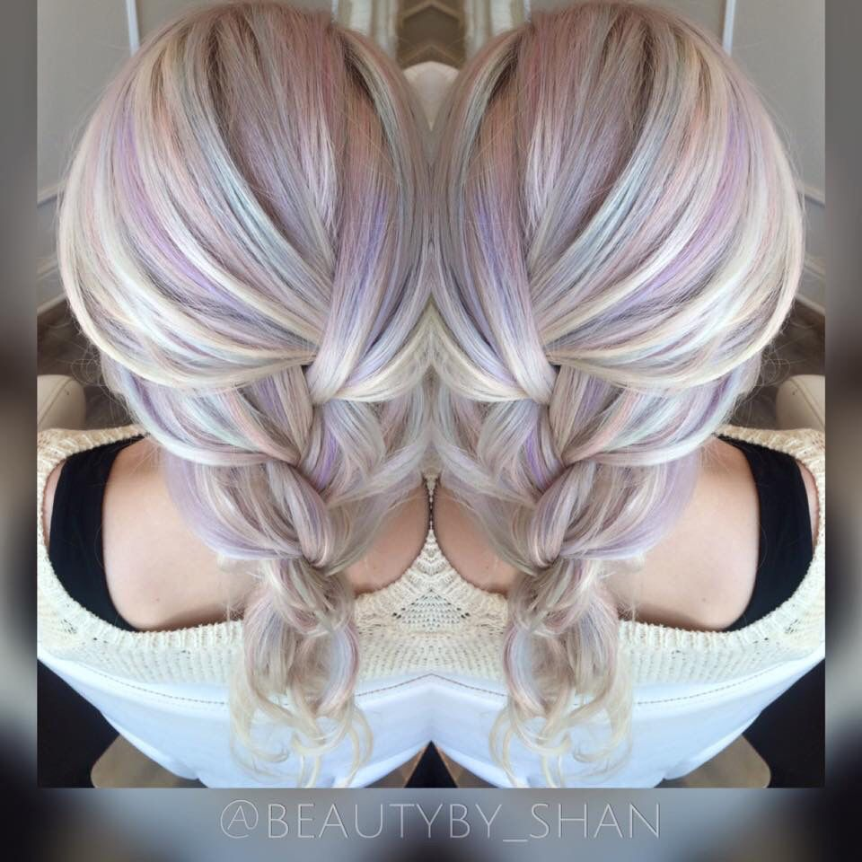 Opal hair. Unicorn hair. Pastel hair. Mermaid hair ...