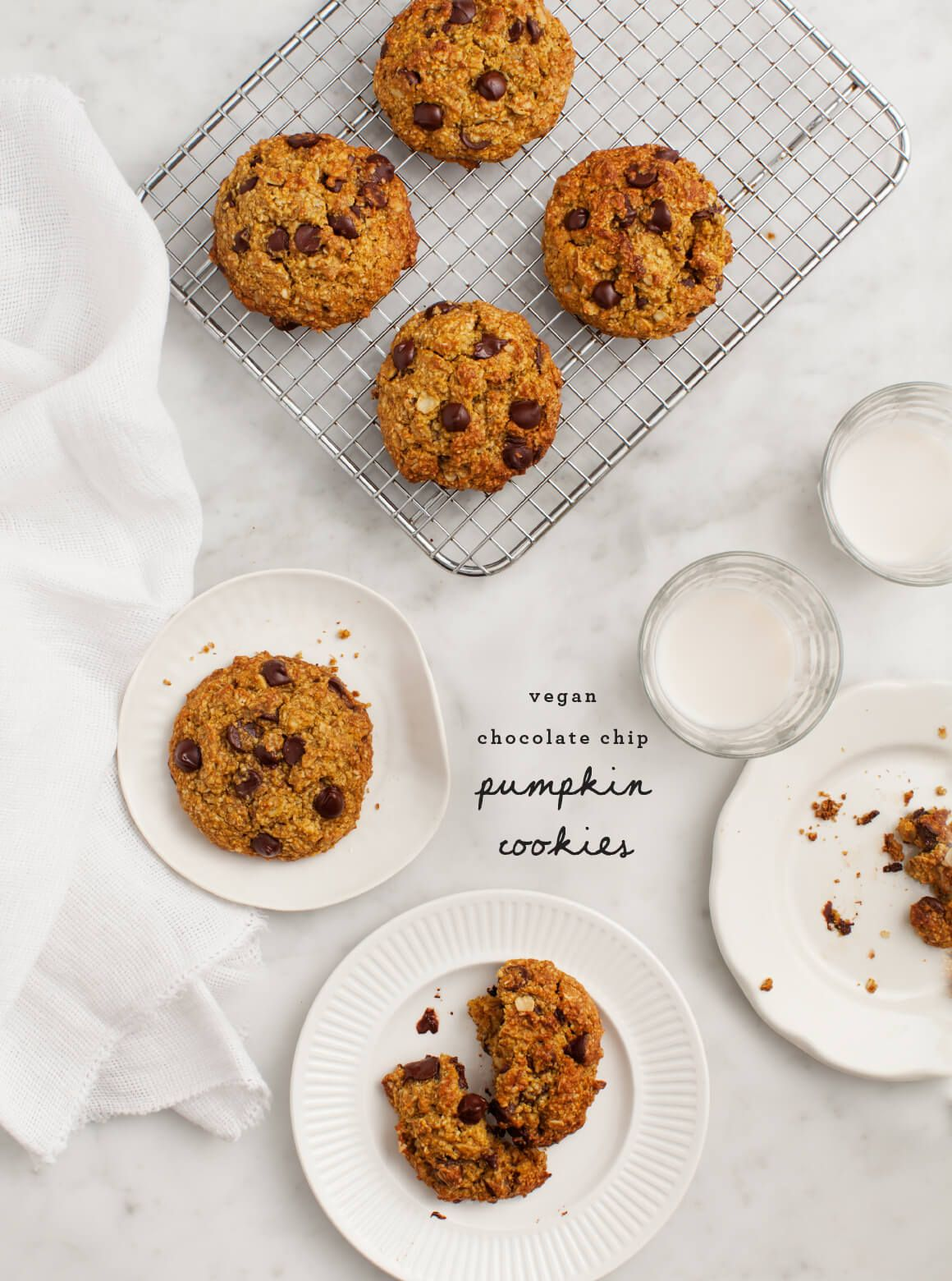 Pumpkin Oatmeal Chocolate Chip Cookies (vegan & gluten free ...