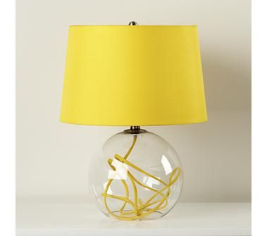 Yellow Cord Table Lamp Crystal Ball Contemporary Table Lamps