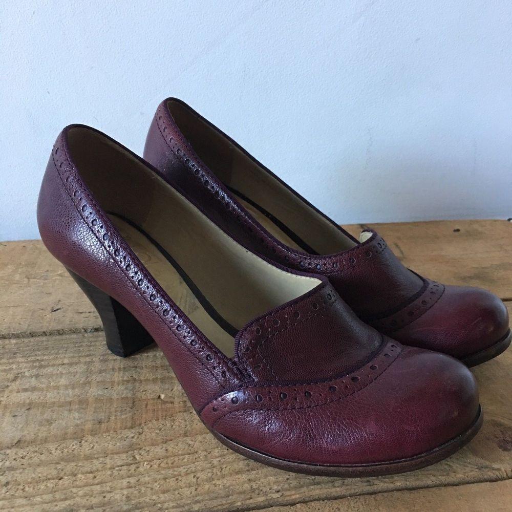pretty nice c11ce 5f40d Clarks uk size 7 womens agra sunrise maroon claret court ...