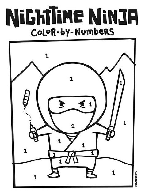 Nighttime Ninja Coloring Page Japanese culture, Japanese and Culture - best of mini ninja coloring pages