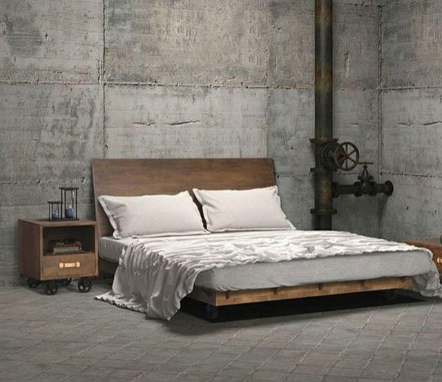 35 idées pour la chambre adulte design industriel   Loft bedrooms ...