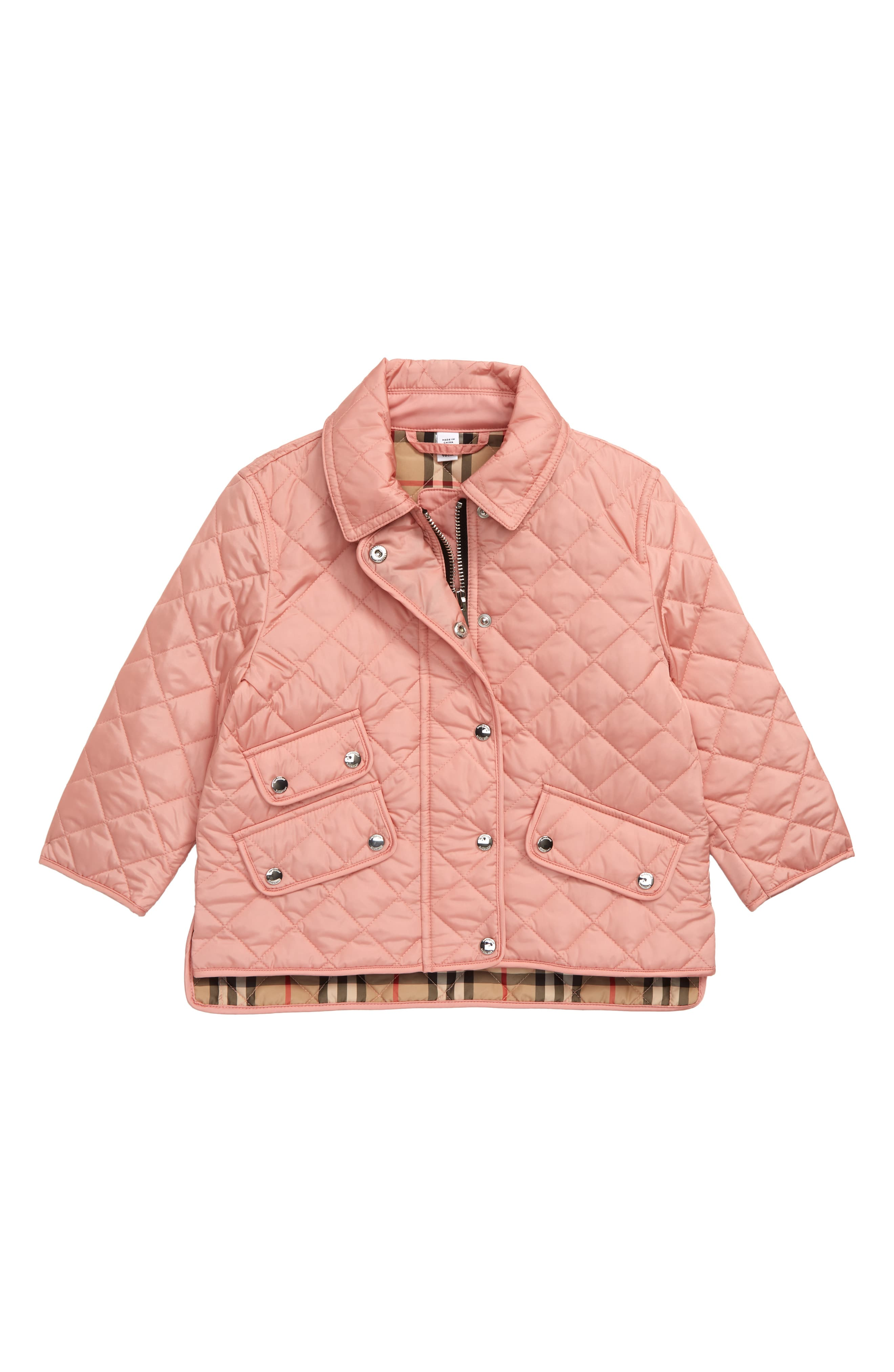Burberry Brennan Water Resistant Diamond Quilted Jacket Toddler Girl Little Girl Big Girl Quilted Jacket Diamond Quilt Jackets