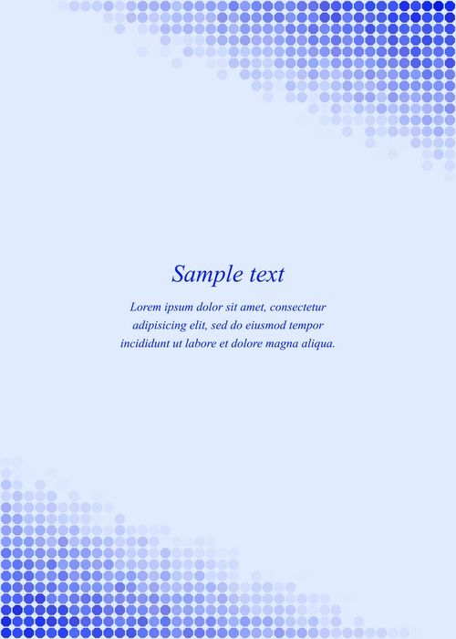 Blue page corner design template #invitation #presentation - letter of presentation