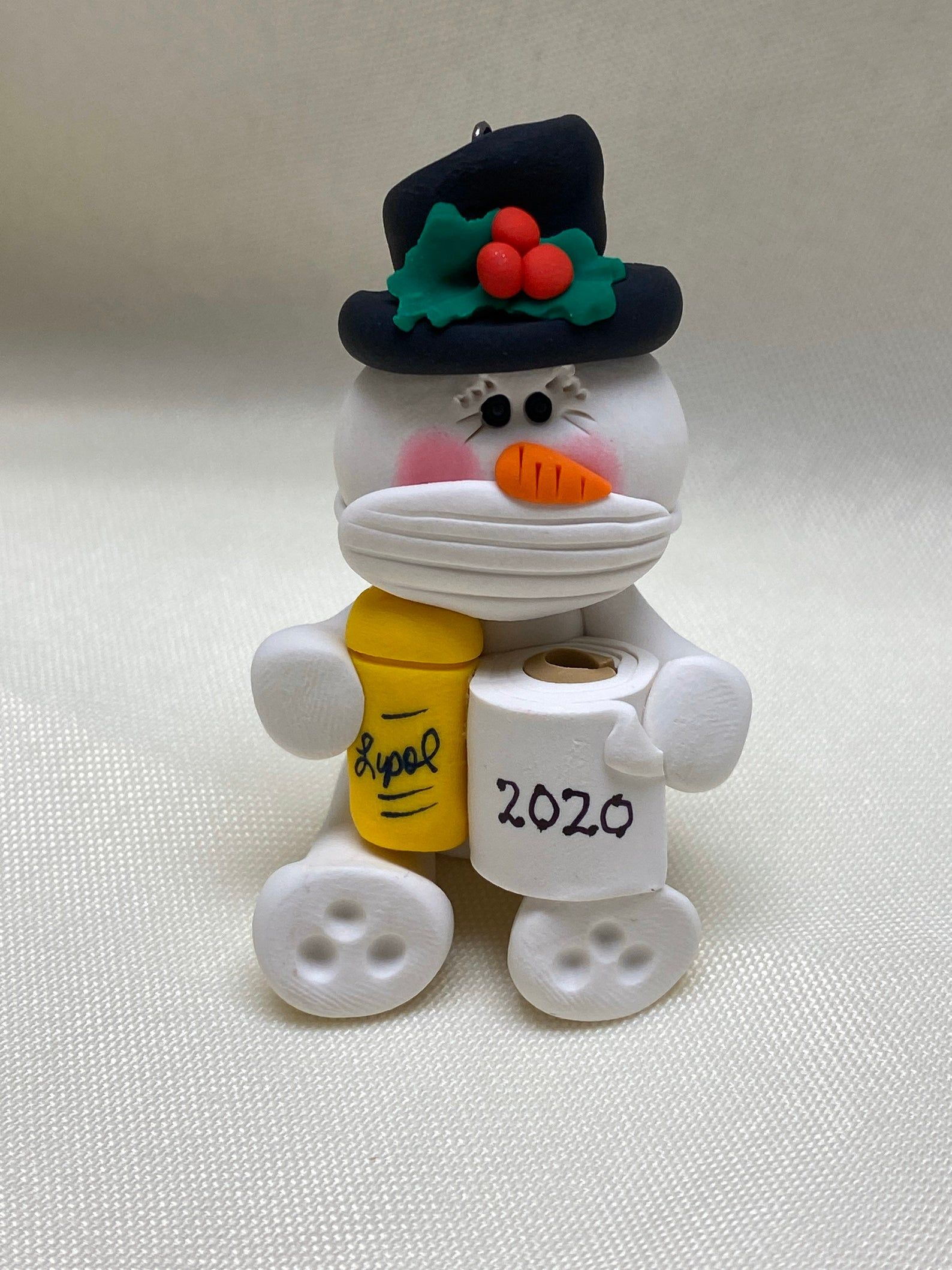 Snowman with mask and toilet paper Etsy in 2020 Diy