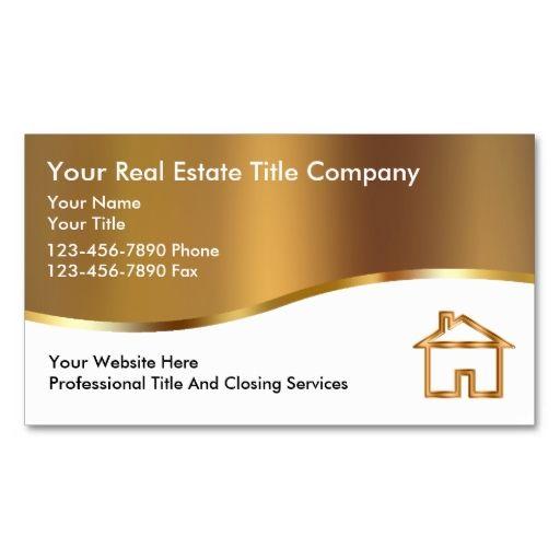 Classy Title Company Business Cards Zazzle Com Company Business Cards Real Estate Business Cards Business Card Design
