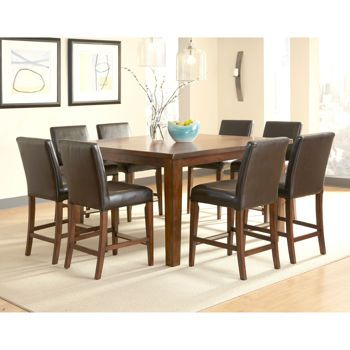Brookshire 9 Piece Square Counter Height Dining Set Counter