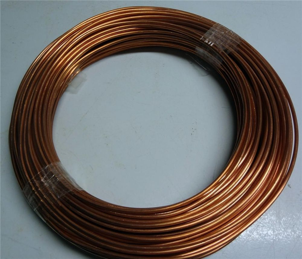 100\' BARE BRIGHT #10 SOLID COPPER WIRE CRAFT SUPPLIES ART MATERIAL ...