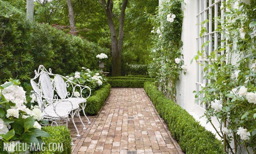 Designer Shannon Bowers beautiful garden featured in Milieu Magazine.