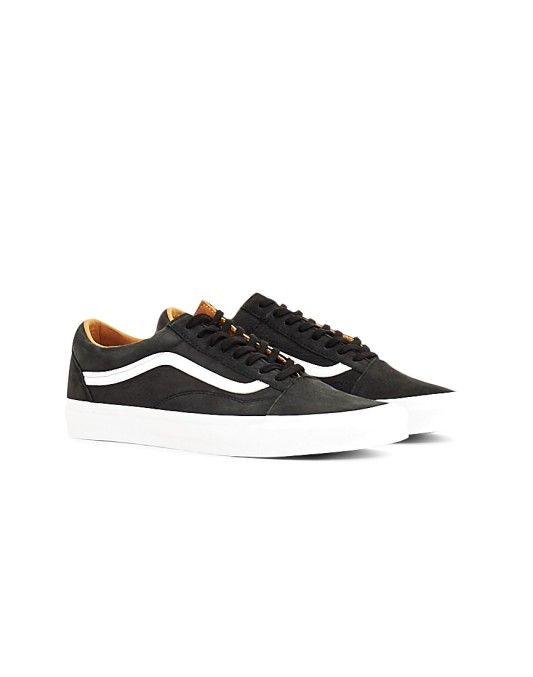 7b9d974db4 Vans Old Skool Premium Leather Trainers Black