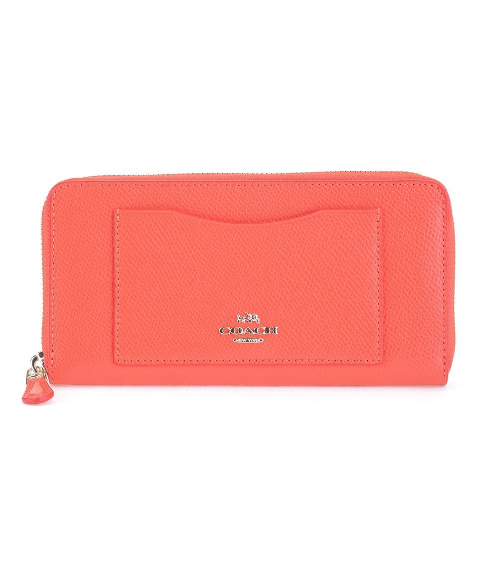 Wallets - Accordion Zip Around Pebbled Leather Melon - rose - Wallets for ladies Coach dmaOsN623