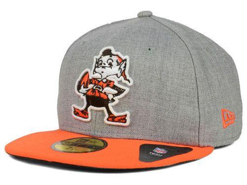 hot sale online 79b6d e5781 Cleveland Browns New Era NFL 2 Tone Heather Team 59FIFTY Cap Hats