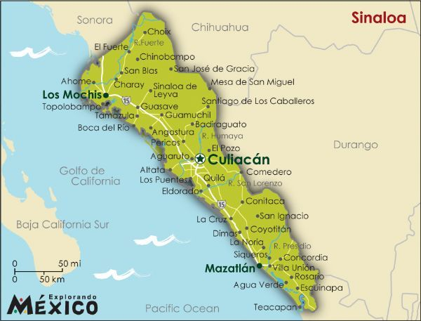 Sinaloa State Map.Map Sinaloa Gallery For Mexico State Maps Sinaloa Map Map Of