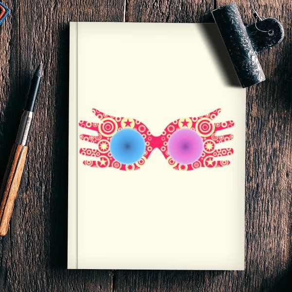 Spectrespecs Luna Lovegood Glasses Harry Potter Notebook Artist Safira Mumtaz Luna Lovegood Glasses Harry Potter Tattoos Harry Potter Notebook