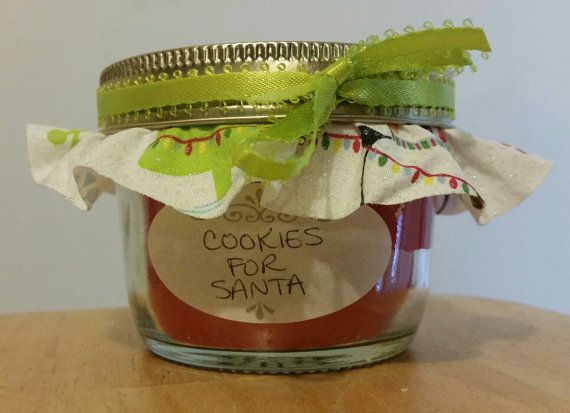 Homemade Mason Jar Candles  Half Pint Sized by MySewCalledCrafts  Cookie Scent