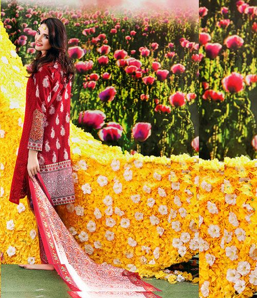 Gul Ahmed Trencia Satin Silk Collection 2016 SS_63