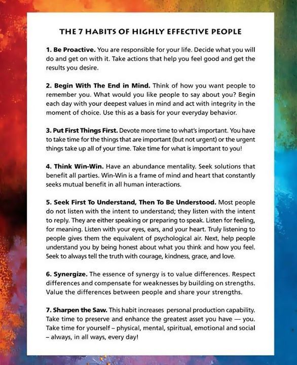 7 effective habit highly paper people term But stephen covey's game-changing book  the 7 habits of highly effective people, which has sold more than 25 million copies, is one of a handful of titles that's still as relevant today as when it was first published 28 years ago.
