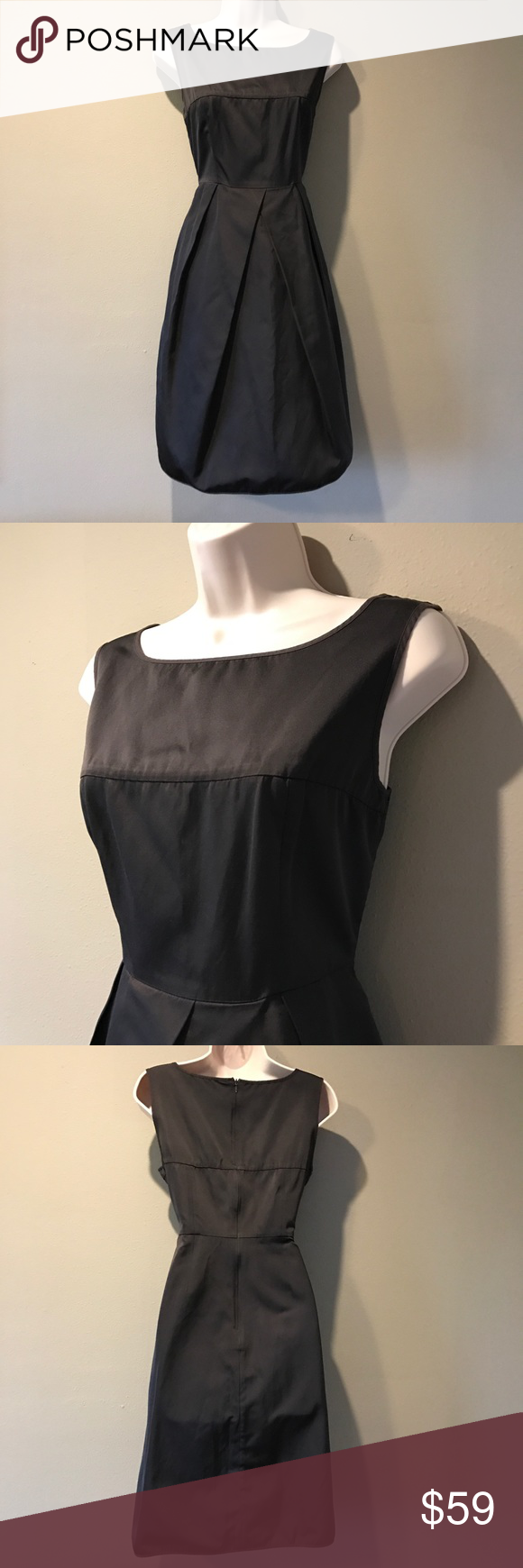 MaxMara Expresso Dress, size 8 Beautifully cut and in excellent preowned condition. Max Mara dark brown A-line skirt dress. Size is 8 MaxMara Dresses