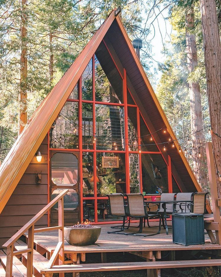 Sunset Magazine Pe Instagram Perfect Day Idyllwild Ca Standing At About A Mile High This Woodsy Hideo A Frame House Plans House In The Woods A Frame House