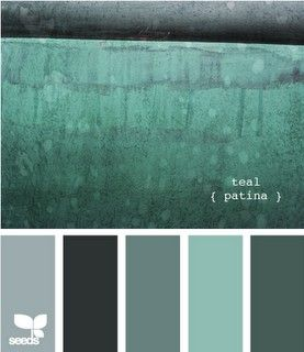 Shades of teal and grey