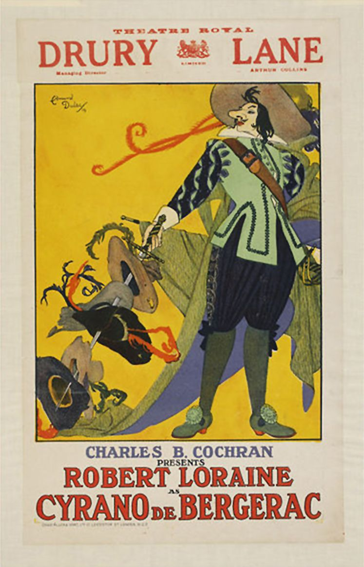 love this edel rodriguez cyrano de bergerac broadway poster advertising poster designed by edmund dulac for a production of cyrano de bergerac at