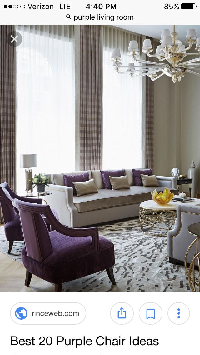 pincay on arden's house  purple living room beige