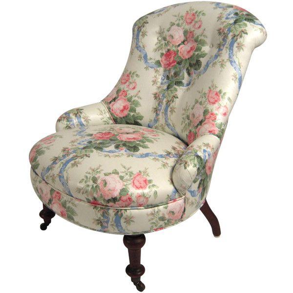 A 19th C Slipper Chair in Floral Chintz circa 1870s-1880s (560 KWD  sc 1 st  Pinterest & A 19th C Slipper Chair in Floral Chintz circa 1870s-1880s (560 KWD ...