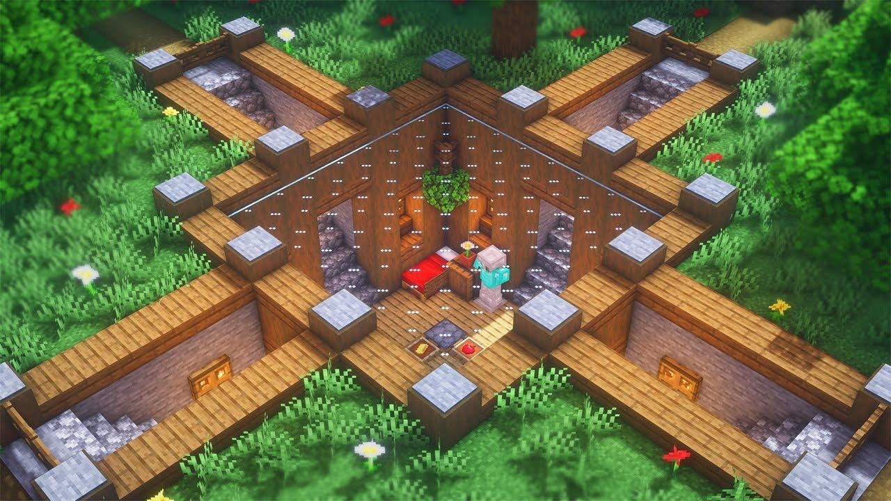 Minecraft: How to Build an Underground Base | Simple ...