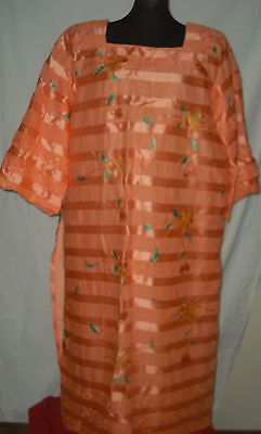 ESTELLA J'S OF GHANA LOVELY 3 PIECE COTTON & EMBRODIERY  African outfit  sz Med