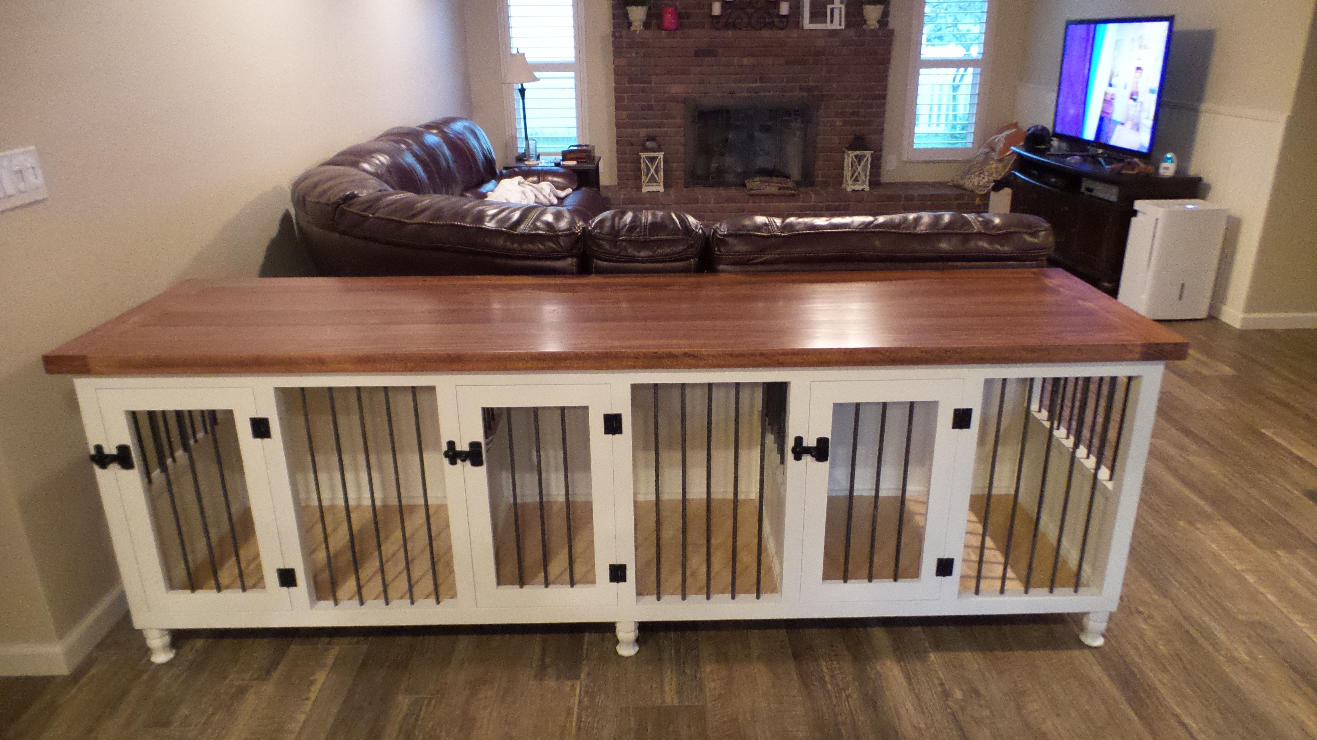 Triple Dog Kennel, medium sized spaces, solid hardwood