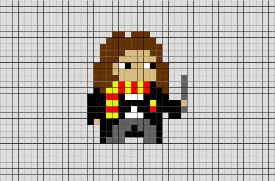 Harry Potter Hermione Pixel Art Pixel Art Cross Stitch Harry Potter Graph Paper Drawings