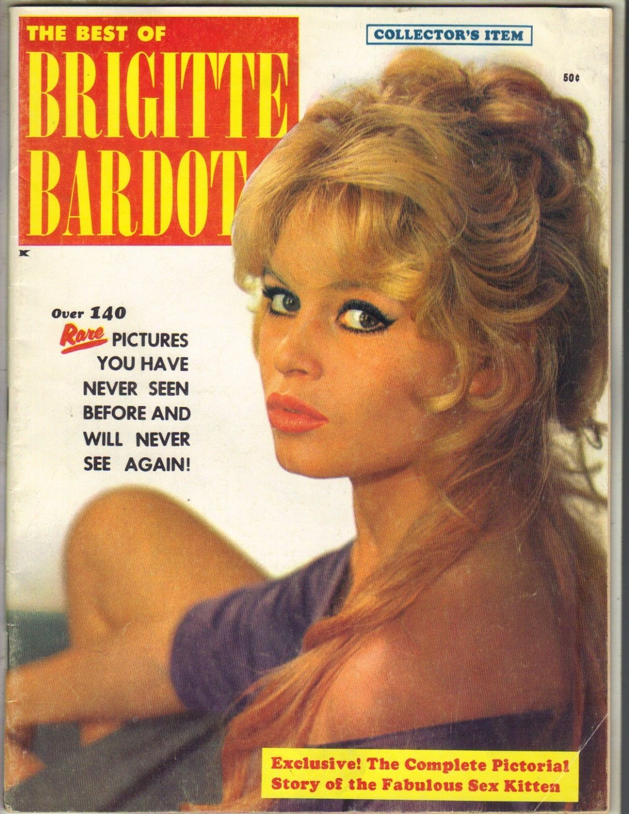 4f452fe8e2 THE BEST OF BRIGITTE BARDOT Magazine 1959 COLLECTOR'S ITEM 140 RARE  PICTURES   eBay