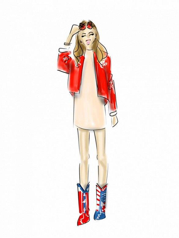 Chiara Ferragni Our Favorite NYFW Street Style Moments, Illustrated via @WhoWhatWear