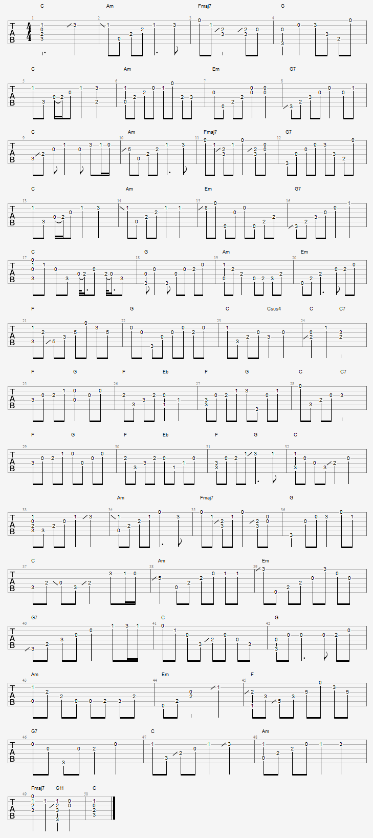Unchained Melody Guitar Tab Pinterest Unchained Melody Guitar