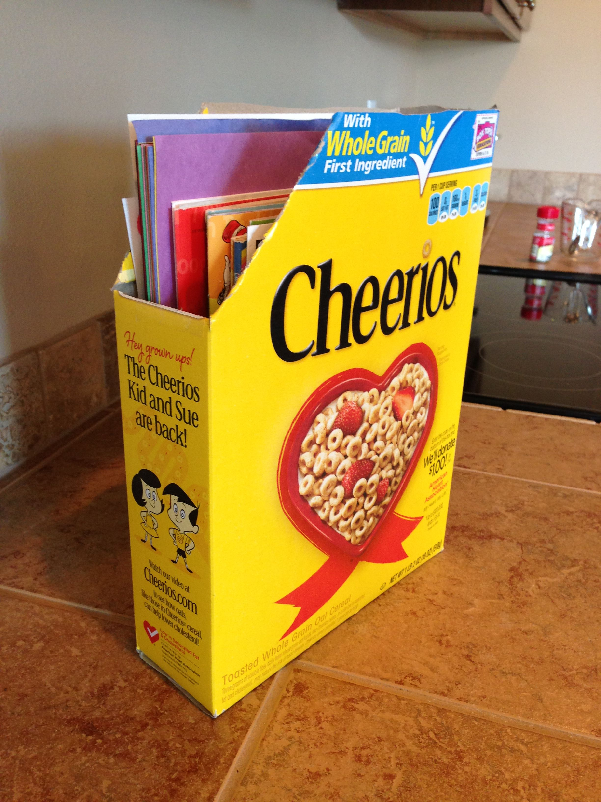 Free! Cheerios box coloring book organizer. | Kid Craft | Pinterest ...