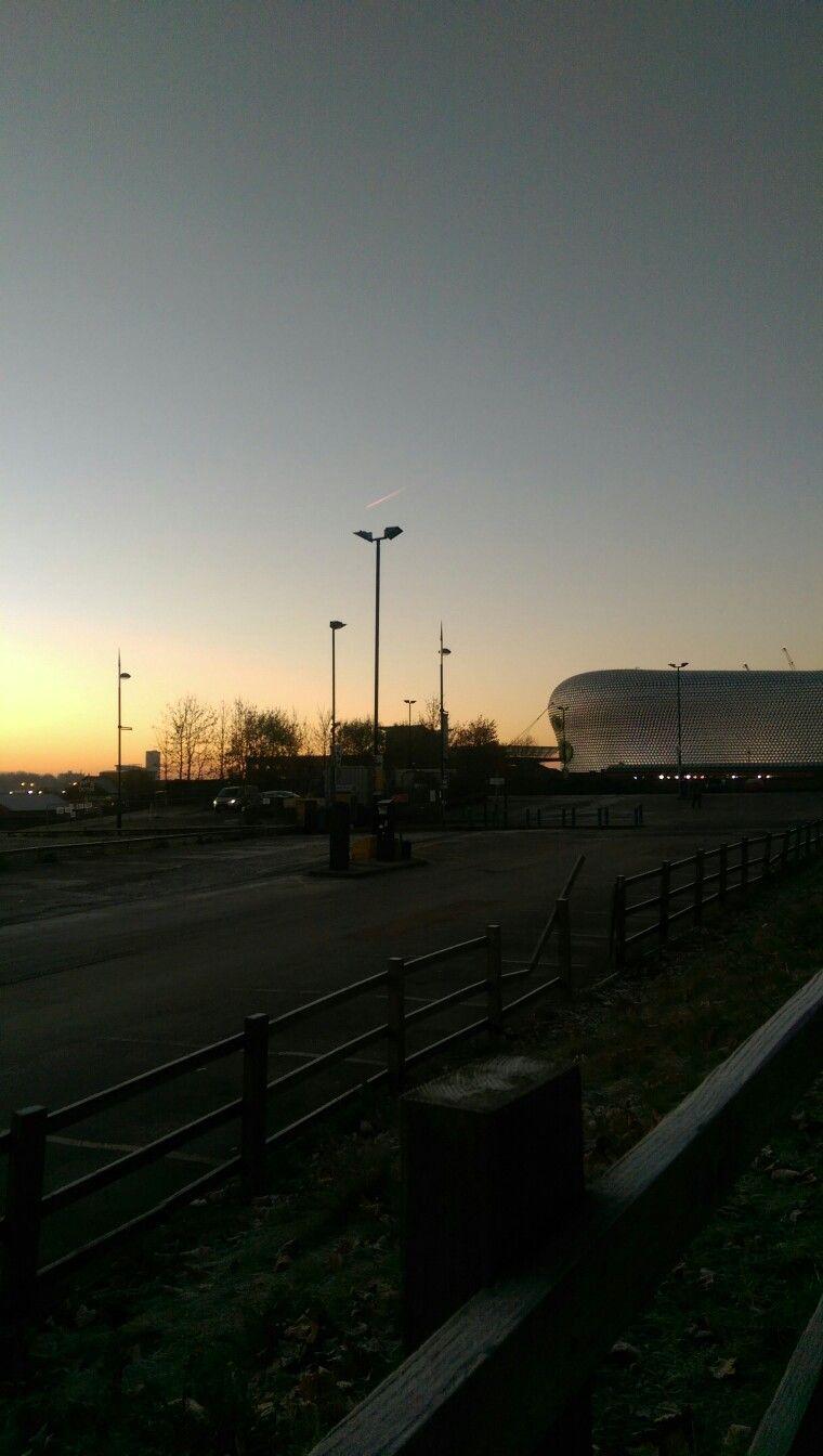Sun rising in Birmingham
