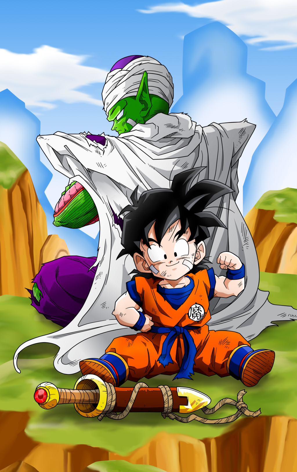 Gohan And Piccolo Training By Miguele77 Deviantart Com On