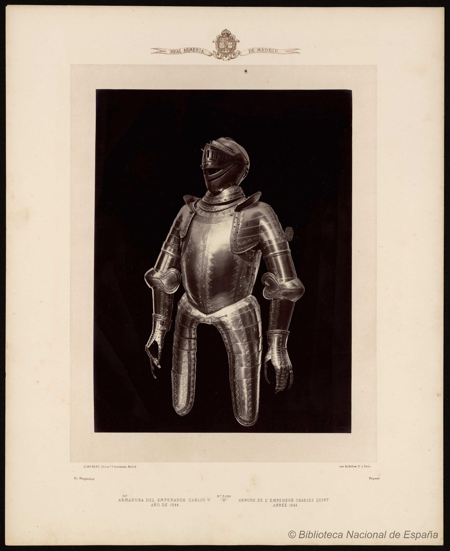 Armadura del emperador Carlos Quinto año de 1544.. Laurent, J. 1816-1886 — Fotografía — 1868