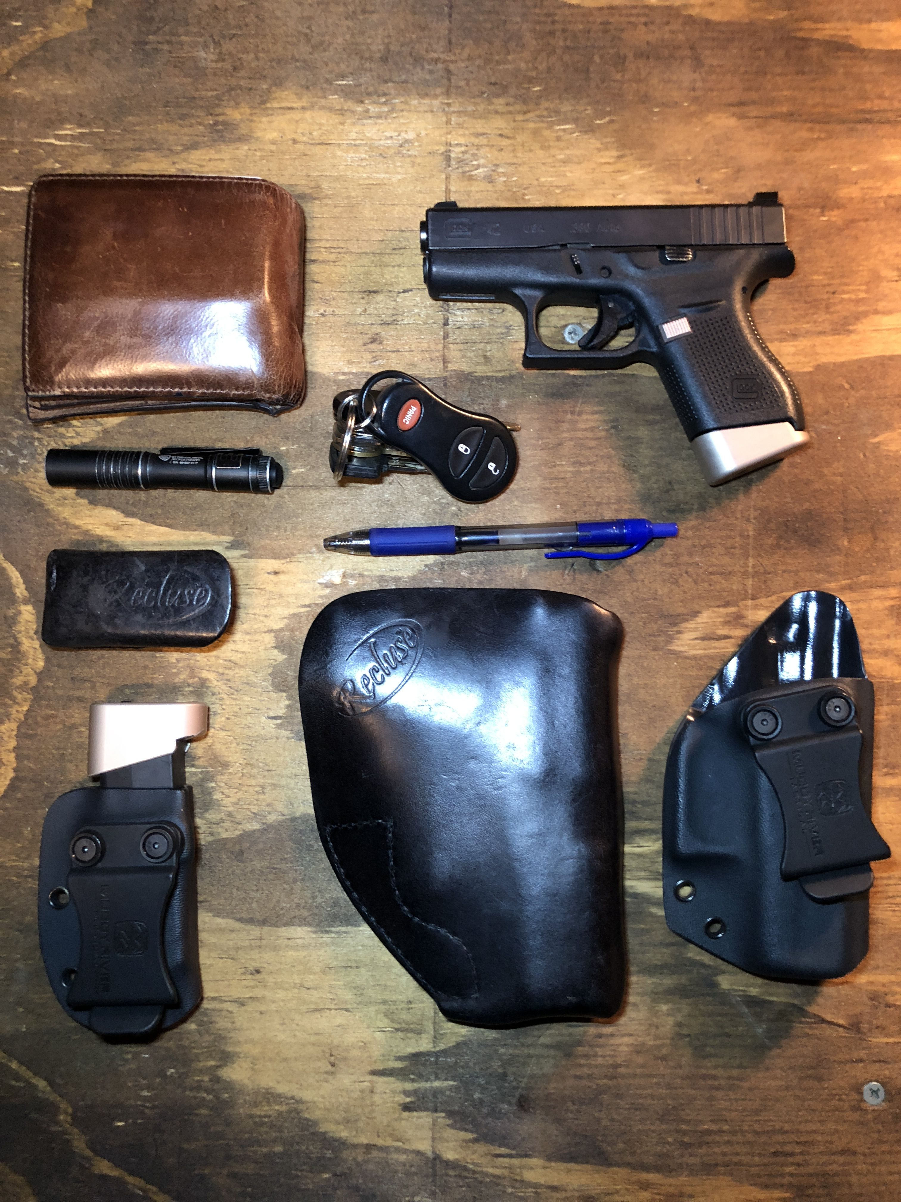 EDC Glock 42, Hyve, Recluse Holsters, Muddy River Tactical